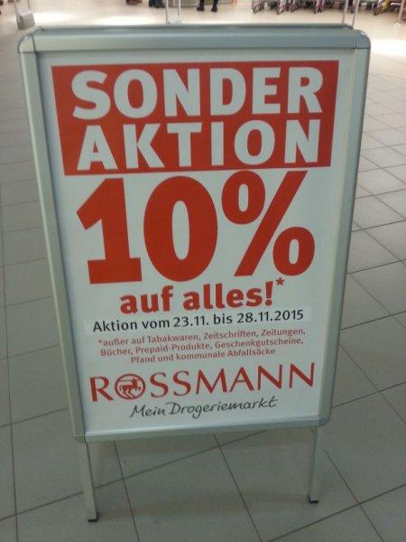 [Lokal] Rossmann Dresden Neustadt: 10% auf alles