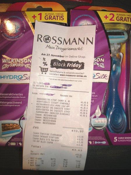 [ Rossmann ] Wilkinson Hydro Silk für 1,23 € ( evtl + 1Klinge o. 2 Klingen )