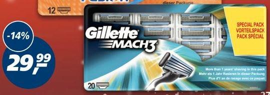 Gilette Mach 3 - 20 Klingen bei Real und Amazon für 29,99€