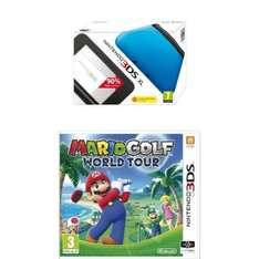 [Amazon.co.uk] Nintendo 3DS XL blau-schwarz + Mario Golf: World Tour (3DS)