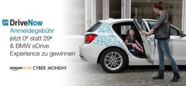 Amazon Family: DriveNow - Anmeldegebühr jetzt 0€ statt 29€