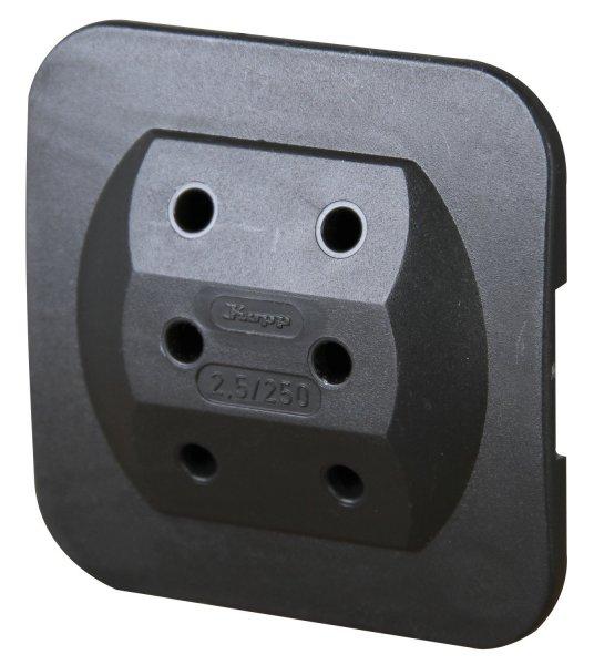 Kopp Euro-Adapter 3-fach weiß/schwarz 1,19€ + kostenlose Lieferung