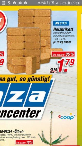 10 Kilo Holzbriketts, Tiefpreis