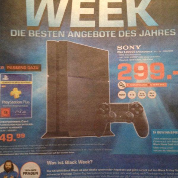 PS4 1TB bei Saturn Weiterstadt 299€
