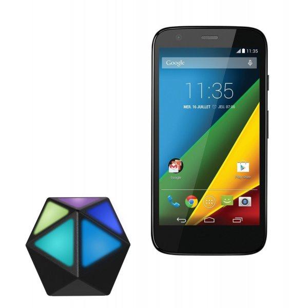 Motorola Moto G (1. Generation) 4G LTE Schwarz + Moto Stream Bluetooth Music Adapter für 5 Geräte inkl. Vsk für 123,80 € > [amazon.fr]