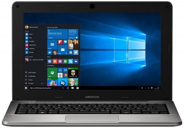 Medion S2217 11,6 Zoll (29,6 cm) Notebook (Intel Atom Z3735F QuadCore, 1,83 GHz, Full-HD, 2GB RAM, 32 GB SSD, Intel HD Graphics, Win 10) silber @amazon Blitz