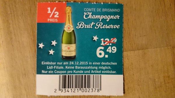 Champagner Comte de Brismand (Lidl) 50% Rabatt am 24.12. - 6,49€ statt 12,99€
