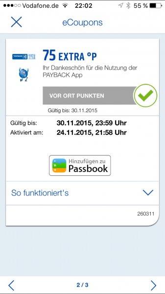[Payback] 75 Gratis Punkte per App