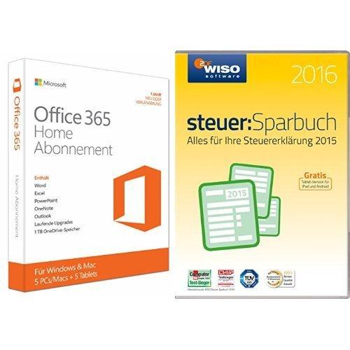 [Amazon] Office 365 + Wiso Steuersparbuch 2016 (Windows) für 49,99€