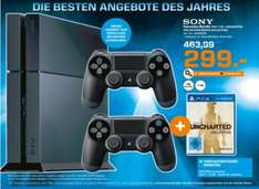 (Lokal) PS4 1TB+2 Controller+Uncharted (The Nathan Drake Collection) für 299€!!! @ Saturn leverkusen