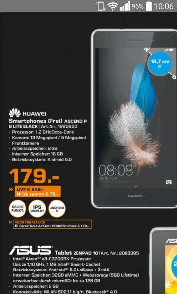 [lokal Saturn Flensburg] Huawei p8 lite für 179€