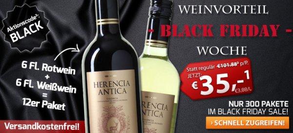12er-Paket Herencia Antica - Valencia DO nur 35€ statt 101,88€; vskfrei @weinvorteil.de