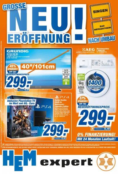 Neueröffnung HEM Singen, Bad Mergentheim PS4 Destiny Bundle + PSTV 299€, Spiele/Filme/Musik Kauf 3 Zahl 2, Fernseher usw.