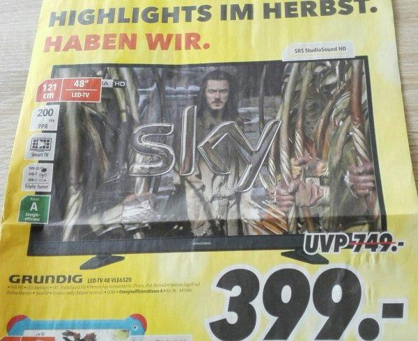 [Bundesweit] LED TV Grundig 48 VLE 6520 BL (@Medimax)