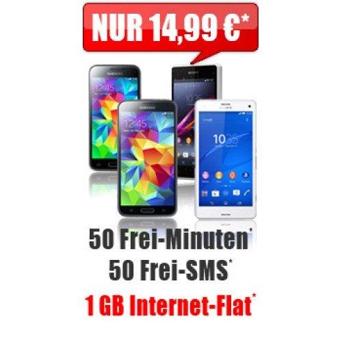 verschiedene Handys mit Vertrag + Smart Surf 14,99 mtl. bei manchen Handys zuzahlung erforderlich