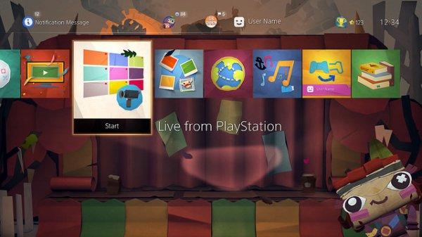 Tearaway kostenloses, dynamisches Design für PS4 im PSN