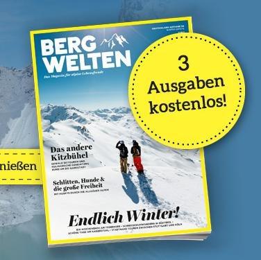 3 Ausgaben Bergwelten gratis!
