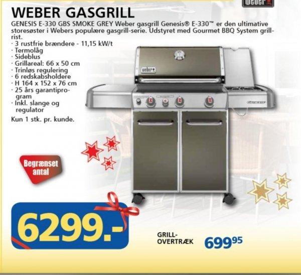 [Lokal Dänemark Davidsen] Weber Genesis E-330 GBS Smoke Grey 6299DKK /~845,00 € + viele weitere Angebote
