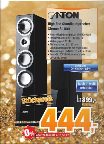 [Lokal] Expert Bening Canton Chrono SL 590 DC Standlautsprecher schwarz & weiß für 444,- pro Stück