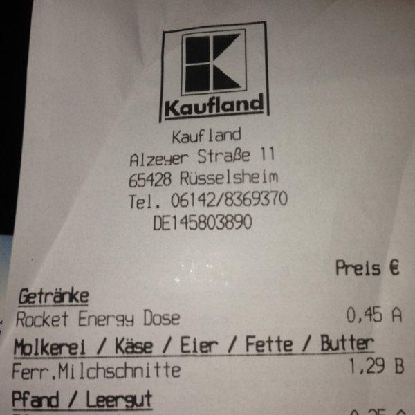 Lokal Kaufland Rüsselsheim - Milchschnitte 10er