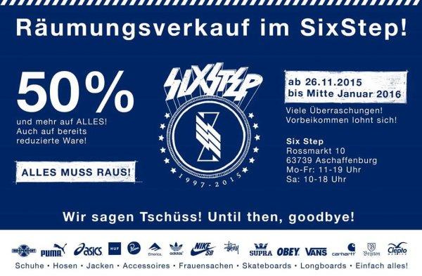 [lokal Aschaffenburg] Räumungsverkauf Six Step