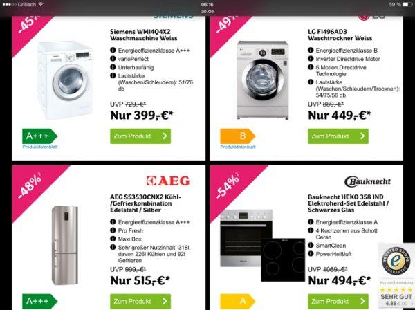 [AO] Herdset, Waschmaschine & Waschtrockner im täglichen Black Friday Sale