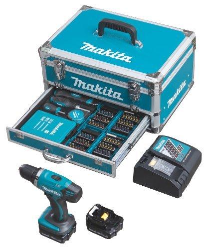 Makita Akkuschrauber DDF34RYX3 mit 2 Akkus 14.4 Volt 1.5 Ah +96x Zubehör + Koffer für 159.99 Vsk. Frei
