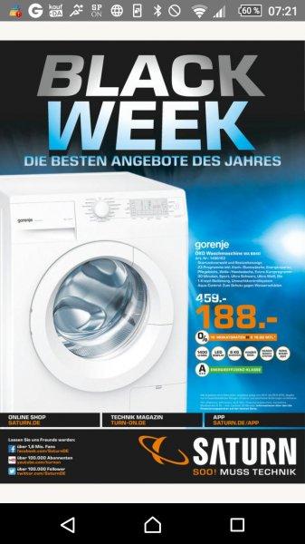 [LOKAL] Waschmaschine Gorenje Wa6840 bei Saturn für 188€. 50 € unter idealo