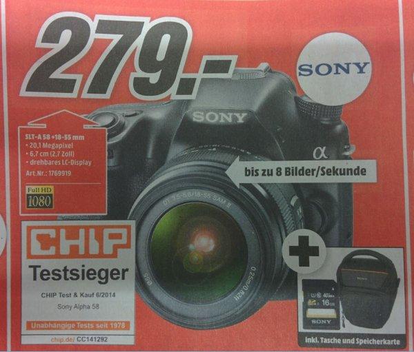 [lokal Köln-Kalk] Sony Alpha 58 SLT-A58 + Tasche + SD-Karte 16GB am 29.11. für € 279,-