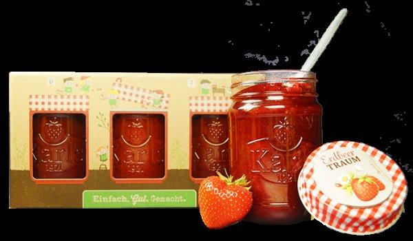 12 Gläser Karls Erdbeertraum für 31,00 Euro