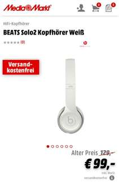 [Media Markt]BEATS Solo2 Kopfhörer -  verschiedene Farben