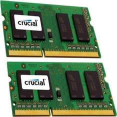 [Amazon.com] Crucial 16GB Kit (8GBx2) DDR3-1600 MT/s (PC3-12800) 204-Pin SODIMM für 70,42€