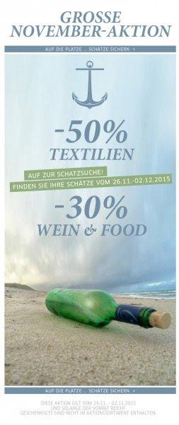 Sansibar Sylt  -50% auf Textilien -30% auf Food&Wine