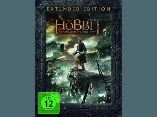 Der Hobbit: Die Schlacht der fünf Heere (Extended Edition), DVD (5 Stück)