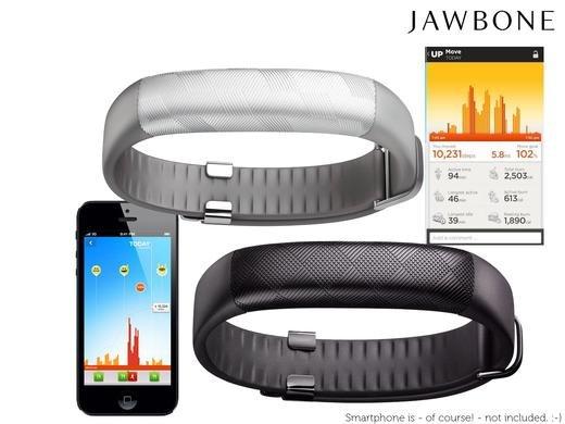 [iBOOD] Jawbone UP2 Tracker (schwarz und silber)