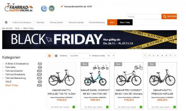 Black Friday Deals @ fahrrad-kaufen-online.de