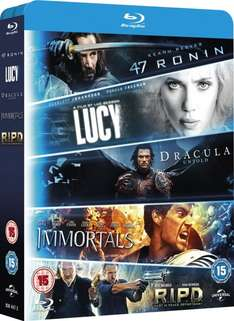 [Amazon.uk] Blu-Ray 5 Movie Starter Pack Lucy/Dracula Untold/47 Ronin/Immortals/R.I.P.D