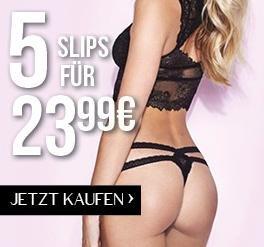 Hunkemöller - 5 Slips für 23,99€