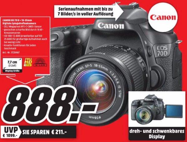 [MM Heilbronn] Canon EOS 70D Kit 18-55 mm für 888€