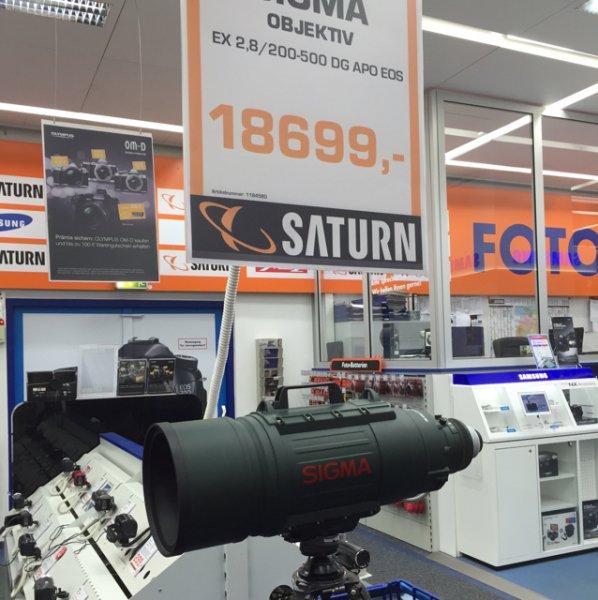 Sigma APO 200-500 F/2,8 EX DG Lokal Saturn Dortmund
