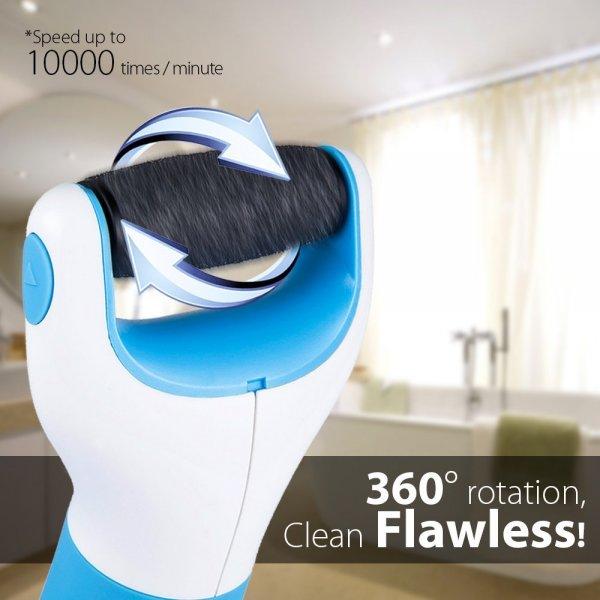 [Amazon] Elektronische Hornhaut Raspel - Wasserdicht - mit 2 Extra Steinroller