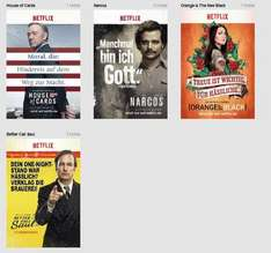 Netflix Serienplakate wieder gratis zu haben