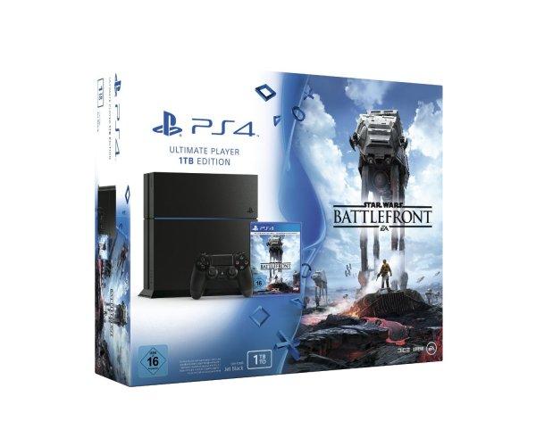 PlayStation 4 - 1TB Konsole (Neue Version) inkl. Star Wars Battlefront für 319,20€ bei Media Markt Black Friday