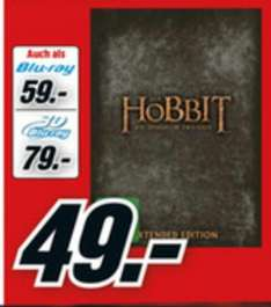 [LOKAL?] Media Markt HH - Der Hobbit Extended Trilogie - DVD 49€/Blu Ray 59€/3D Blu Ray 79€