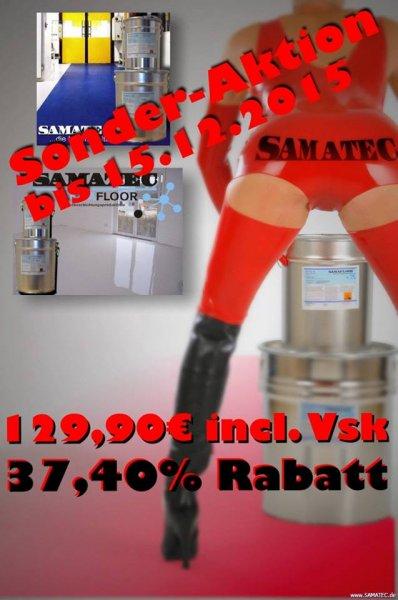 (Samatec) Epoxid Bodenbeschichtung Set für Garagen Werkstätten 25qm
