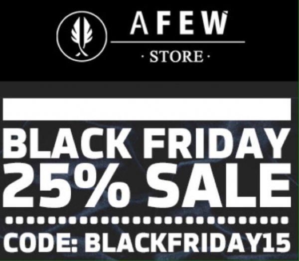 Afew Store 25% auf alles auch Sale @Black Friday