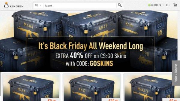 CS-GO SKINS 40% (ggf Steam Guthaben günstiger) @Black Friday