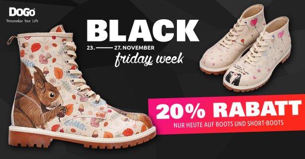 Black Friday bei DOGO 20% Rabatt auf Boots, Short-Boots & Kinder Boots (+ 5 € Newsletter Gutschein)