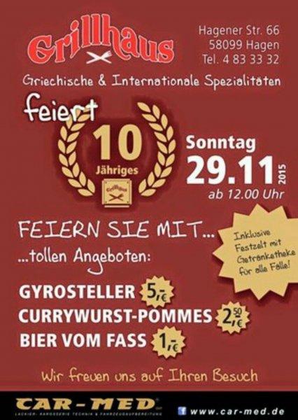 [Lokal Hagen-Boele] 10 Jahre Grillhaus - Gyrosteller für 5€
