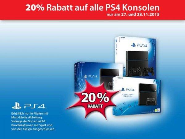Müller-Fillialen | 20% auf PS4 Stand-Alone-Bundles